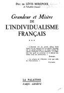 Grandeur et misère de l'individualisme français