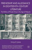 Friendship and Allegiance in Eighteenth-Century Literature [Pdf/ePub] eBook