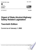 Digest of State Alcohol highway Safety Related Legislation