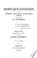 Promptuarium sententiarum ex veterum scriptorum Romanorum libris
