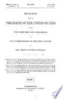 Report of the Secretary of the Interior