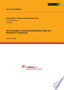 Time Concepts in Intercultural Business  India and Germany in Comparison