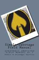 Simple Sabotage Field Manual