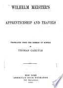 Wilhelm Meister s Apprenticeship and Travels