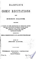 Barton's Comic Recitations and Humorous Dialogues