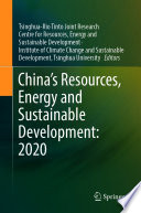 China   s Resources  Energy and Sustainable Development  2020 Book