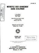 Motorcycle Rider Advancement Course Development Plan Final Report