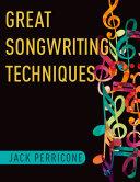 Great Songwriting Techniques Pdf/ePub eBook