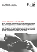 Pdf Five New Opportunities in Credit Card Analytics Telecharger