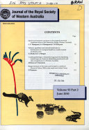 Journal of the Royal Society of Western Australia
