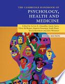 Cambridge Handbook of Psychology  Health and Medicine Book