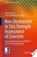 Non Destructive In Situ Strength Assessment of Concrete
