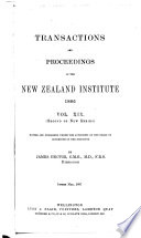 Transactions and Proceedings of the Royal Society of New Zealand Book