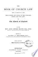 The Book Of Church Law Revised By W G F Phillimore