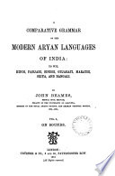 A Comparative Grammar of the Modern Aryan Languages of India  On sounds