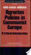 Agrarian Policies in Communist Europe