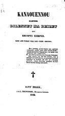 Kanaouennou santel dilennet ha reizet evit Escopti Kemper, etc. [Compiled by - Henry.] (Gwersiou.).