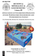 Applications of Synchrotron Radiation in Low temperature Geochemistry and Environmental Sciences