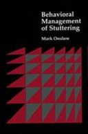Behavioral Management of Stuttering
