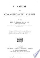 A Manual for Communicants  Classes