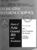 Digest Of Public General Bills With Index