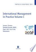 International Management in Practice