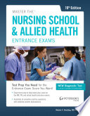 Master the Nusing School   Allied Health Entrance Exams