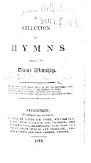 A Selection of Hymns Adapted for Divine Worship ebook