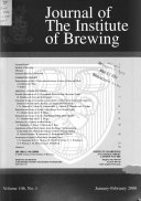 Journal of the Institute of Brewing Book