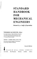Standard Handbook for Mechanical Engineers Book