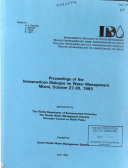 Proceedings of the Interamerican Dialogue on Water Management  Miami  October 27 30  1993