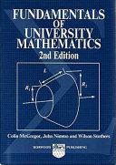 Fundamentals of University Mathematics Book