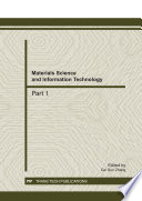Materials Science and Information Technology Book