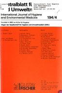 International journal of hygiene and environmental medicine