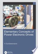 Elementary Concepts Of Power Electronic Drives Book PDF