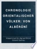 Chronologie orientalischer Völker