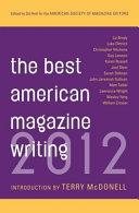 The Best American Magazine Writing 2012
