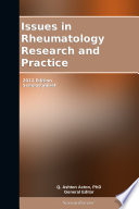 Issues In Rheumatology Research And Practice 2012 Edition Book PDF