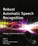 Robust Automatic Speech Recognition [Pdf/ePub] eBook