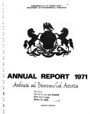 Annual Report on Mining  Oil and Gas  and Land Reclamation and Conservation Activities