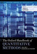The Oxford Handbook of Quantitative Methods in Psychology  Vol  2