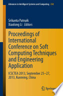 Proceedings Of International Conference On Soft Computing Techniques And Engineering Application Book PDF