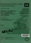 Handbook of Environmental Quality Measurement and Assessment