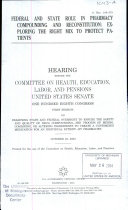 Federal and State Role in Pharmacy Compounding and Reconstitution