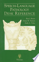 Speech Language Pathology Desk Reference Book PDF