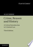 Crime  Reason and History Book