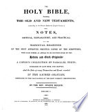 The Holy Bible ... With Notes ... By the Rev. Joseph Benson. Third Edition. [With a Portrait of the Editor.]