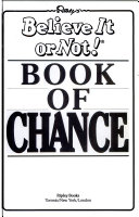 Ripley s Believe it Or Not  Book of Chance