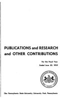 Publications And Research And Other Contributions