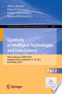 Creativity in Intelligent Technologies and Data Science Book